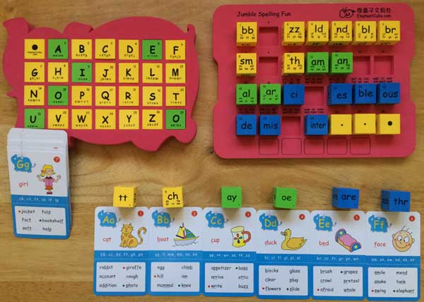 english abc phonics cubes spelling blocks flashcards