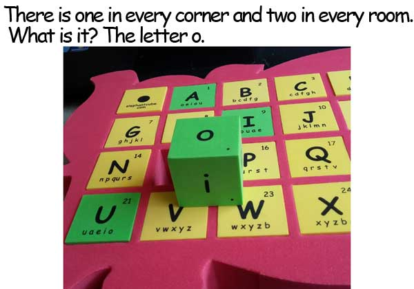 字母 o 謎語 corner room