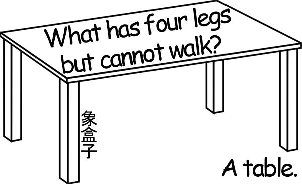 table legs 桌子 四隻腳