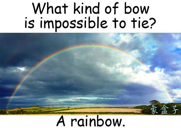 bow 蝴蝶結 rainbow 彩虹