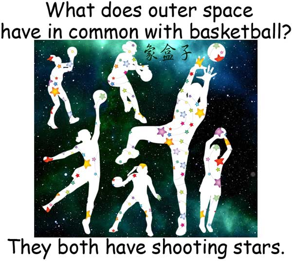 外太空 outer space shooting star 流星 投籃 shoot 籃球 basketball