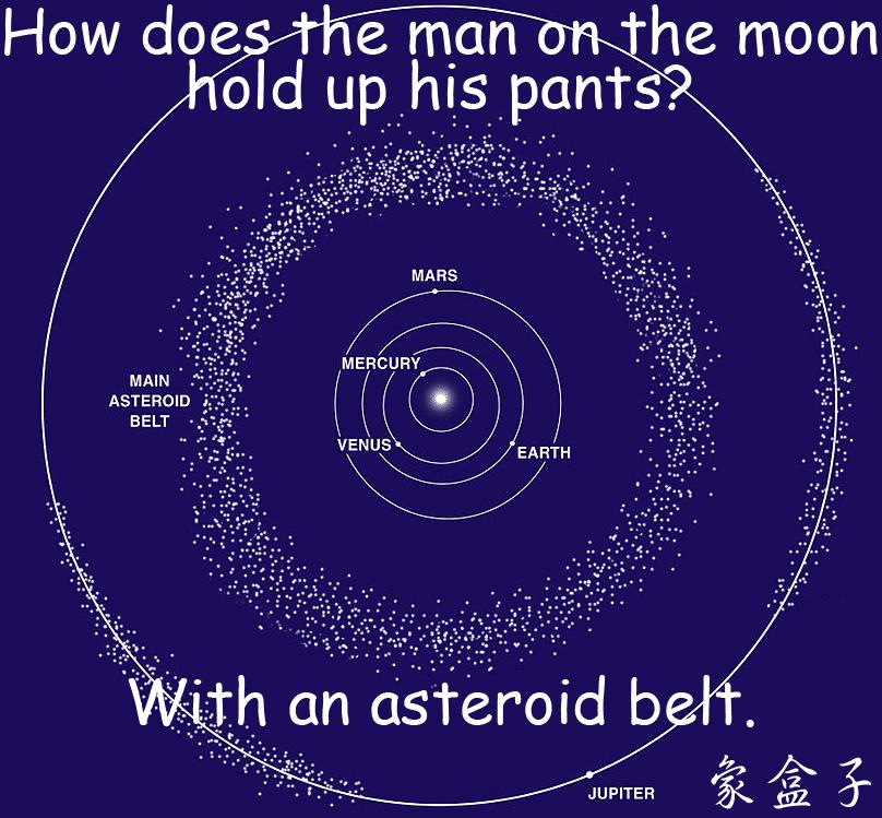 asteroid belt (小行星帶)