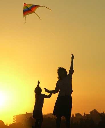 春天 放風箏 spring go kite flying