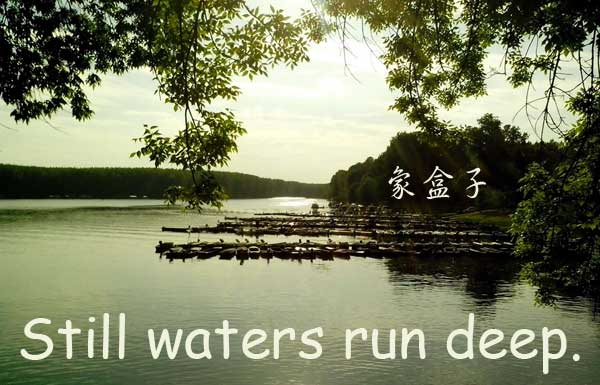 still waters run deep 靜水流深