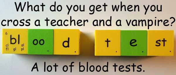 吸血鬼 老師 teacher vampire blood test 驗血 血液檢驗