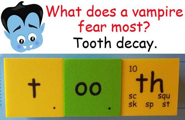 vampire 吸血鬼 tooth decay 蛀牙