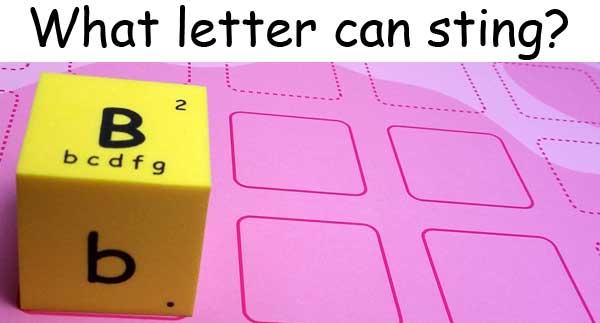 英文字母 English alphabet b bee 蜜蜂