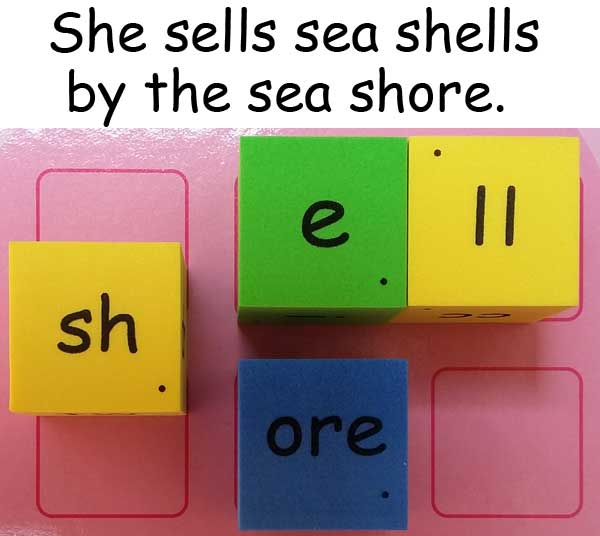 tongue twister 繞口令 她在海濱賣貝殼