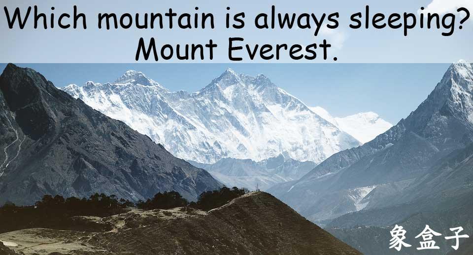 Mount Everest 聖母峰