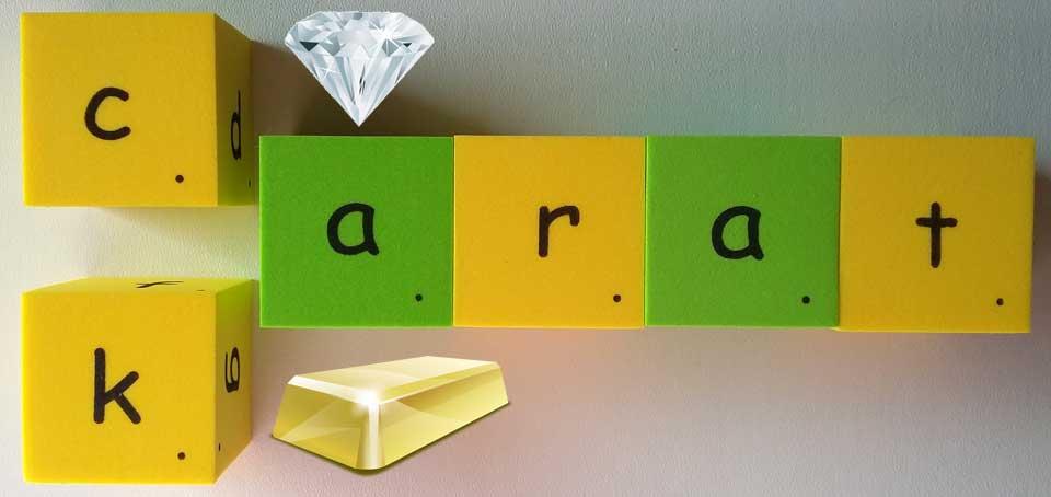 鑽石 寶石 克拉 carat karat 開 黃金