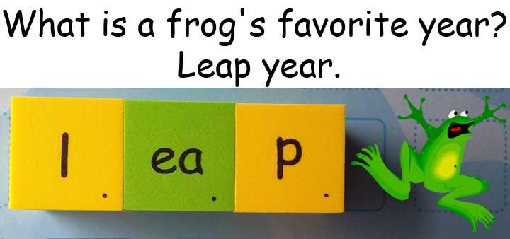 青蛙frog 跳 leap year 閏年