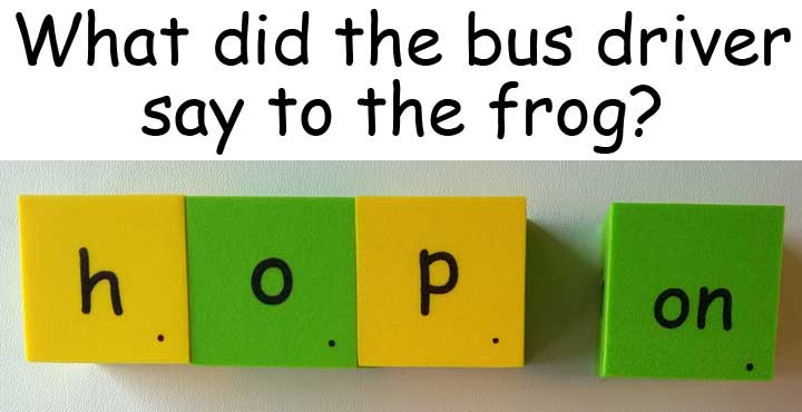 hop on 跳上