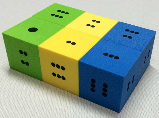 dots dice soft eva foam